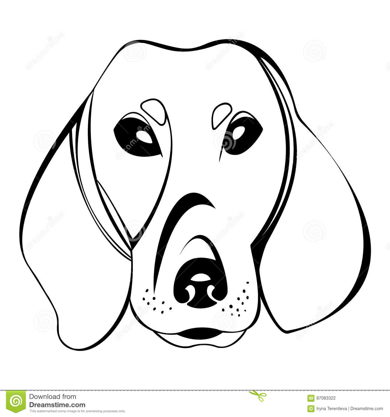 Dachshund Dog Head Logo Stock Vector Image Of Design