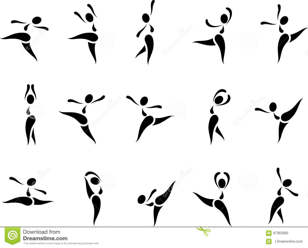 Dance Icon Set Stock Illustration