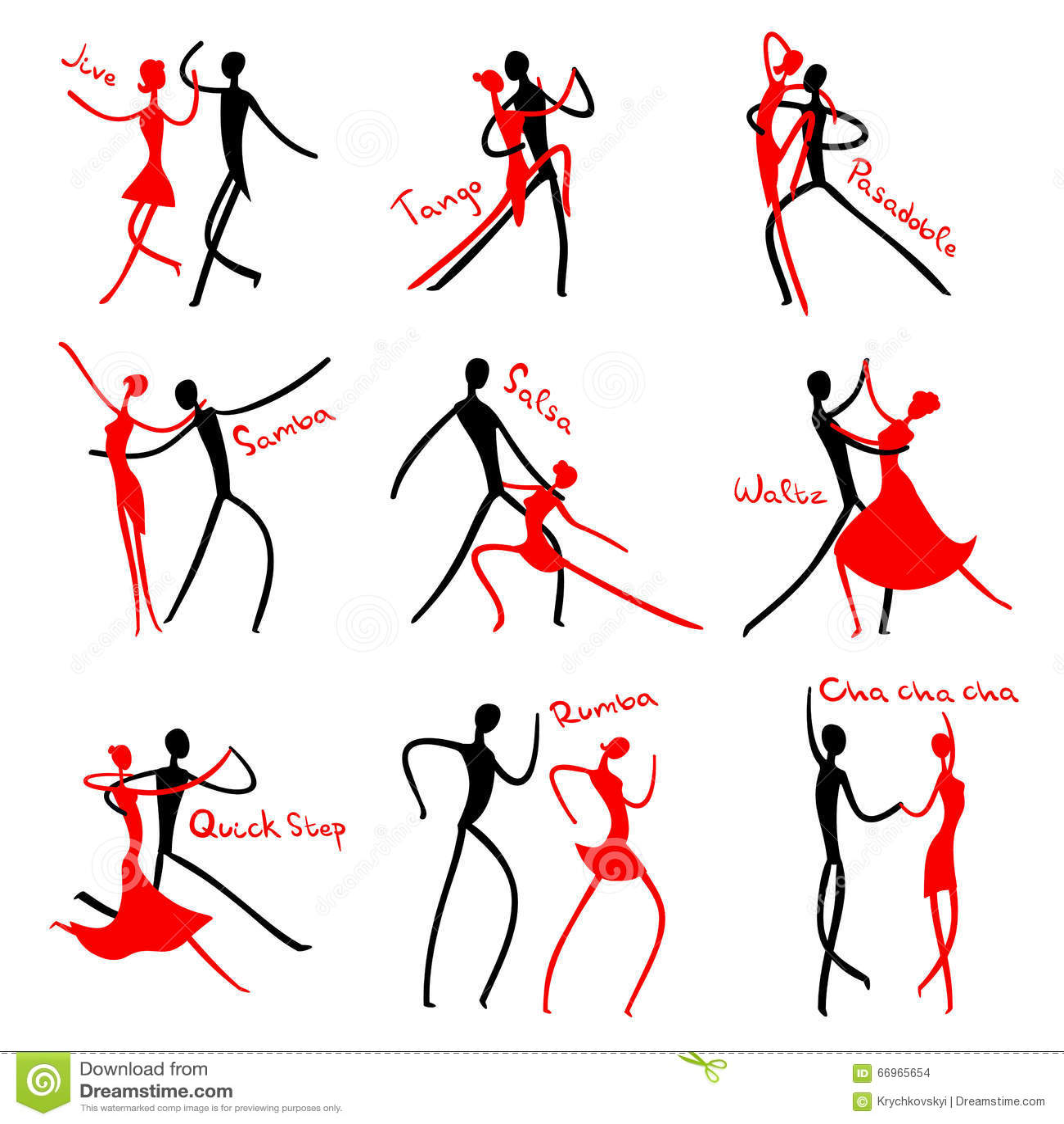 Dancing Figures Stock Illustration Image Of Dance Black