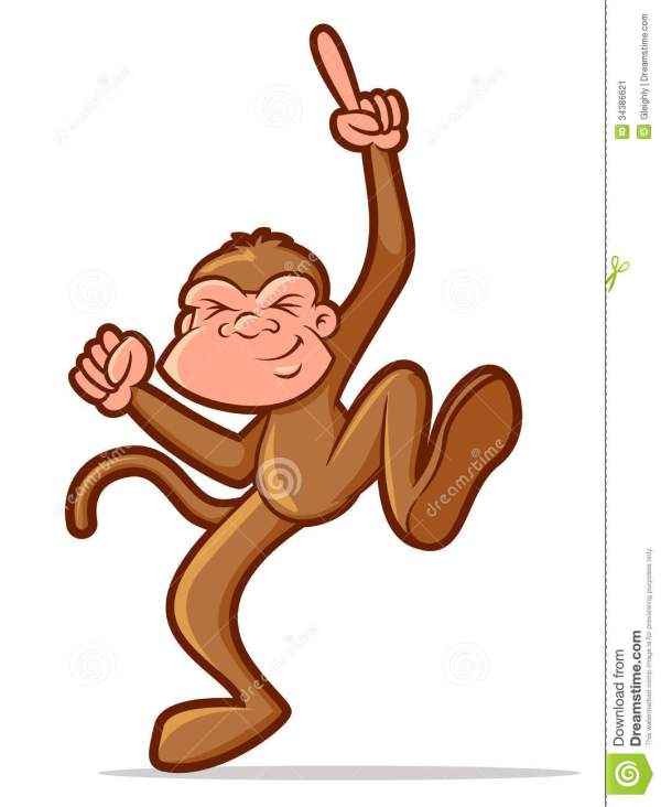 Dancing Monkey Stock Vector. Illustration Of Graphic
