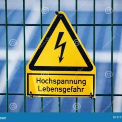 Electrical Panel Hazards 2002 Chevy Suburban Stereo Wiring Diagram Danger Hazard High Voltage Sign Stock Image