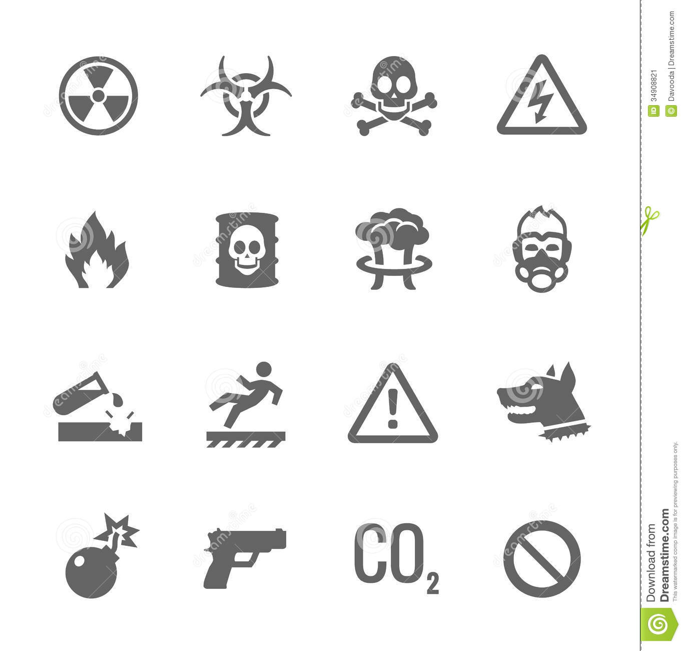 Danger Icons stock vector. Image of construction, image