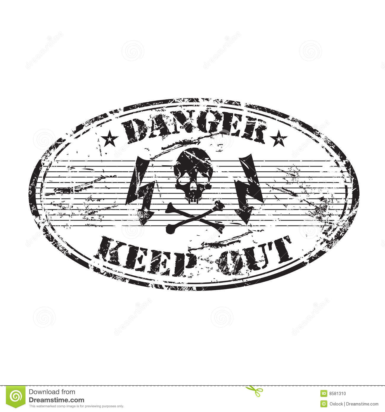 Danger Oval Stamp Stock Photo