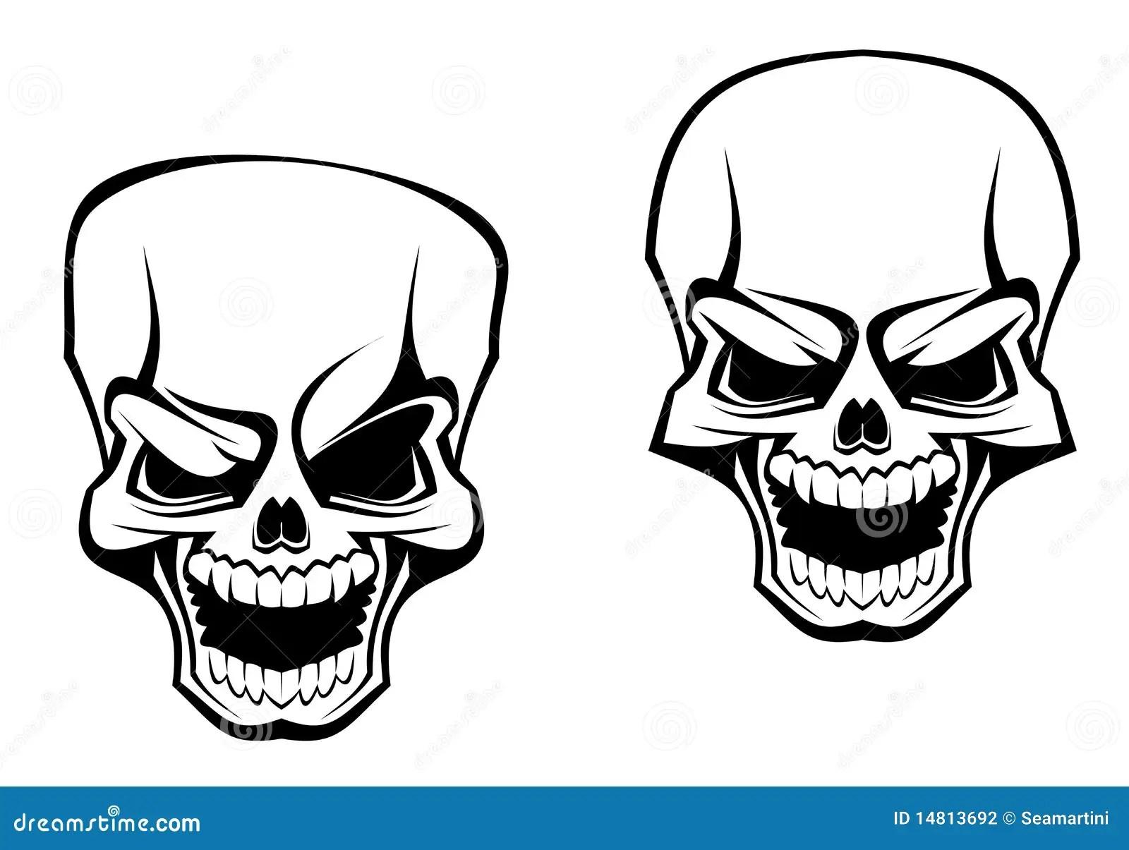 Danger skull stock vector. Illustration of bone, halloween