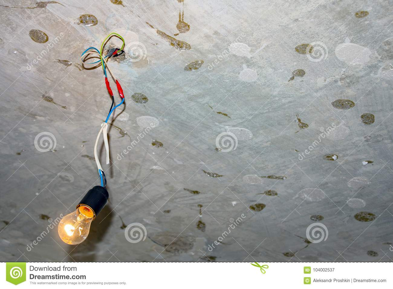 hight resolution of bad wiring leading to the bulb