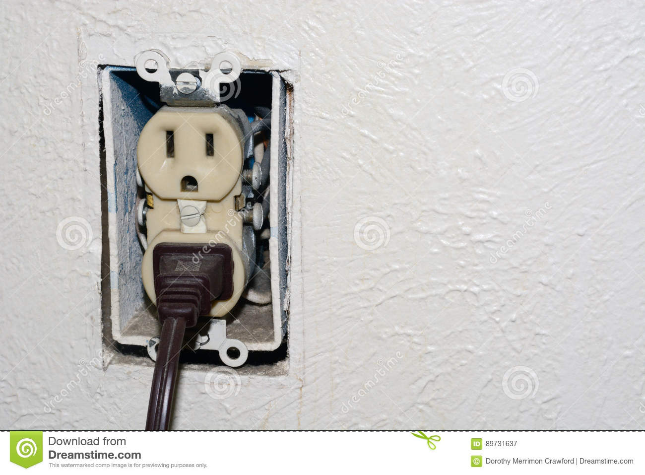 hight resolution of home danger of electrical outlet without cover plate with electrical plug plugged into socket