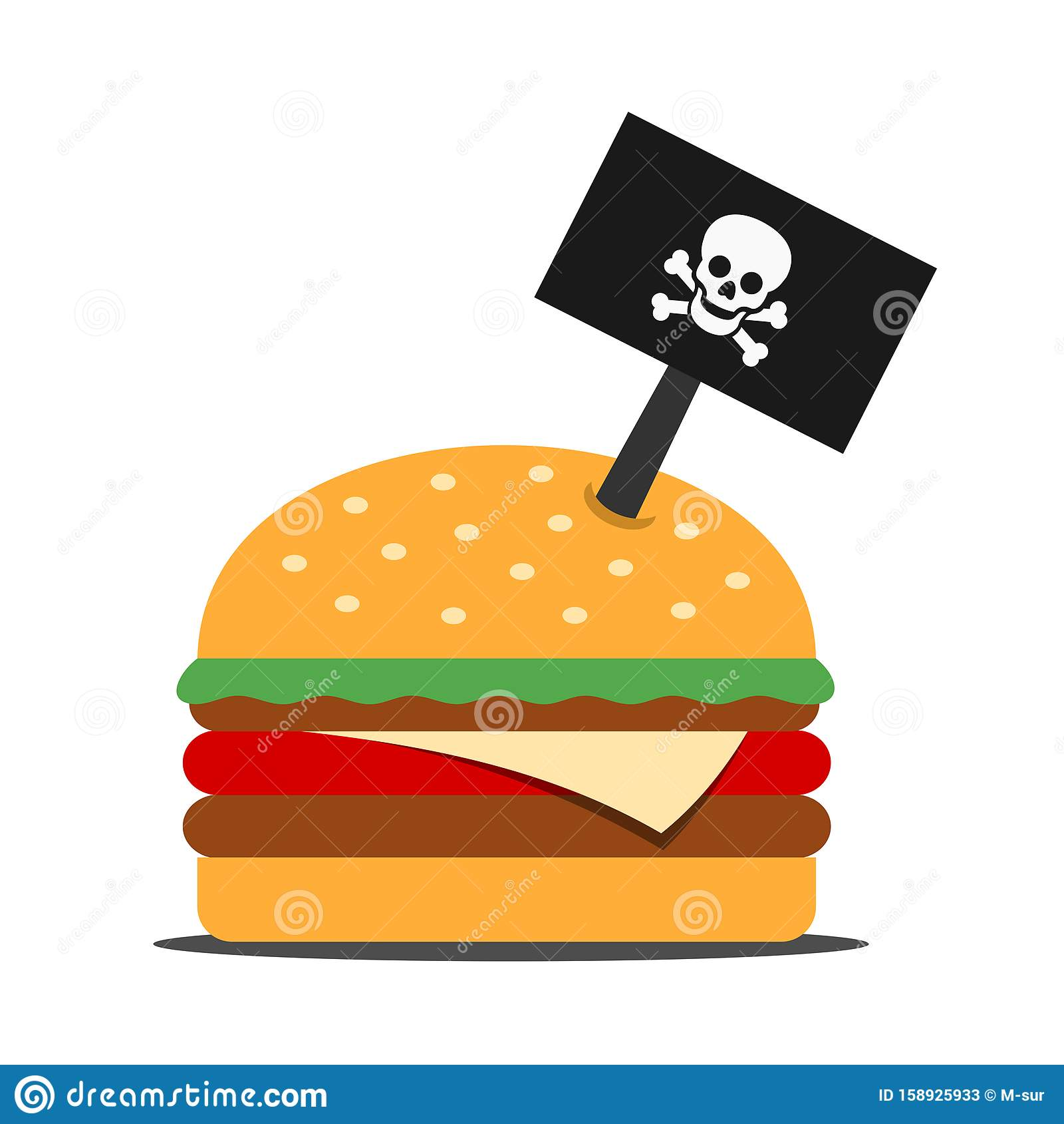 Dangerous Hamburger And Junk Food From Fast Food Stock