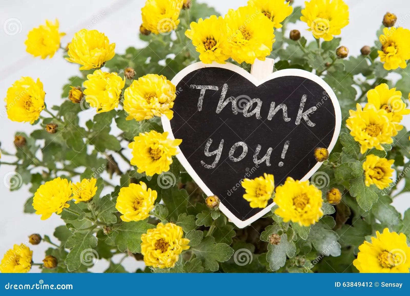 Danke  Blumenstrau Von Blumen Mit Einer