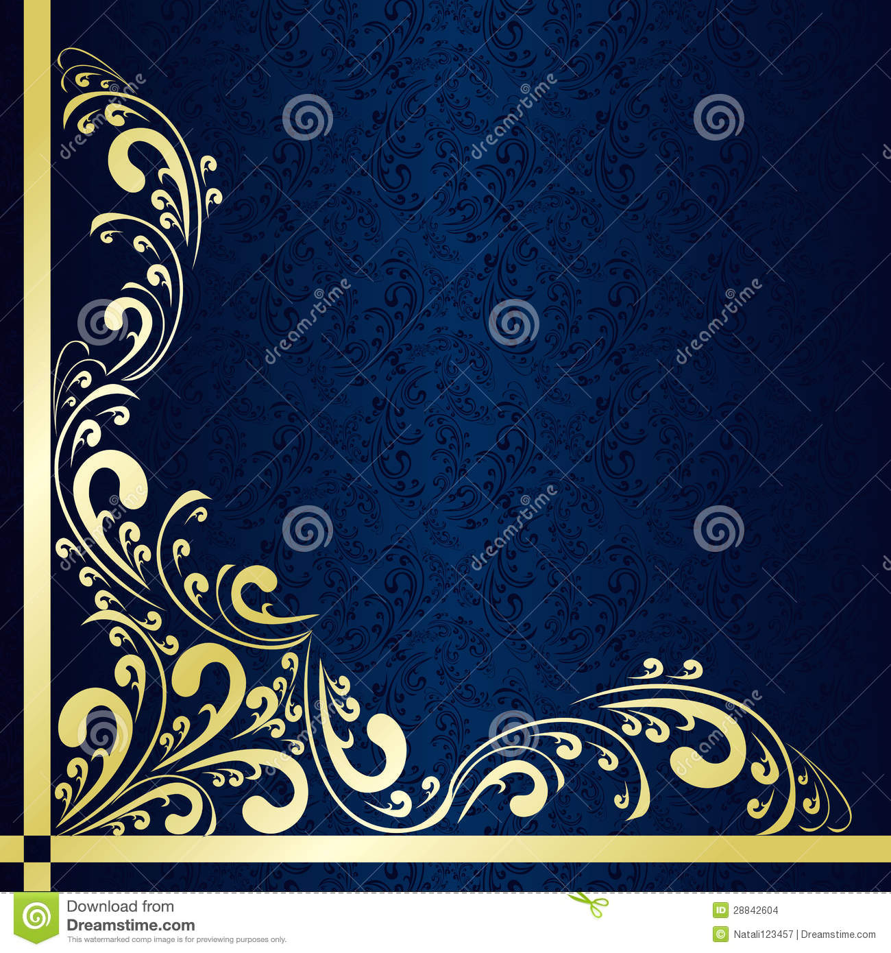 dark blue background decorated