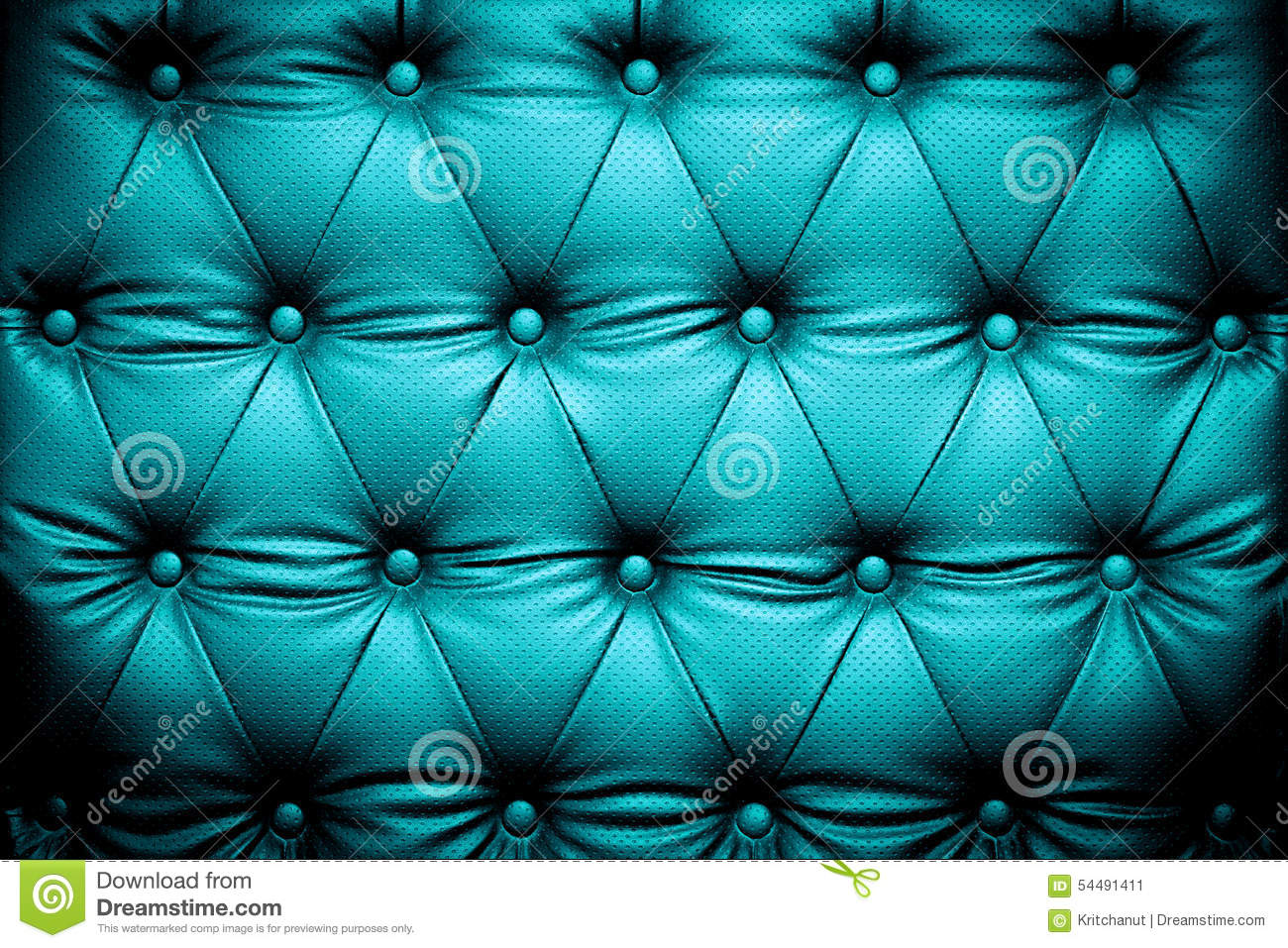 Dark Blue Turquoise Leather Texture With Buttoned Pattern Stock Photo  Image 54491411