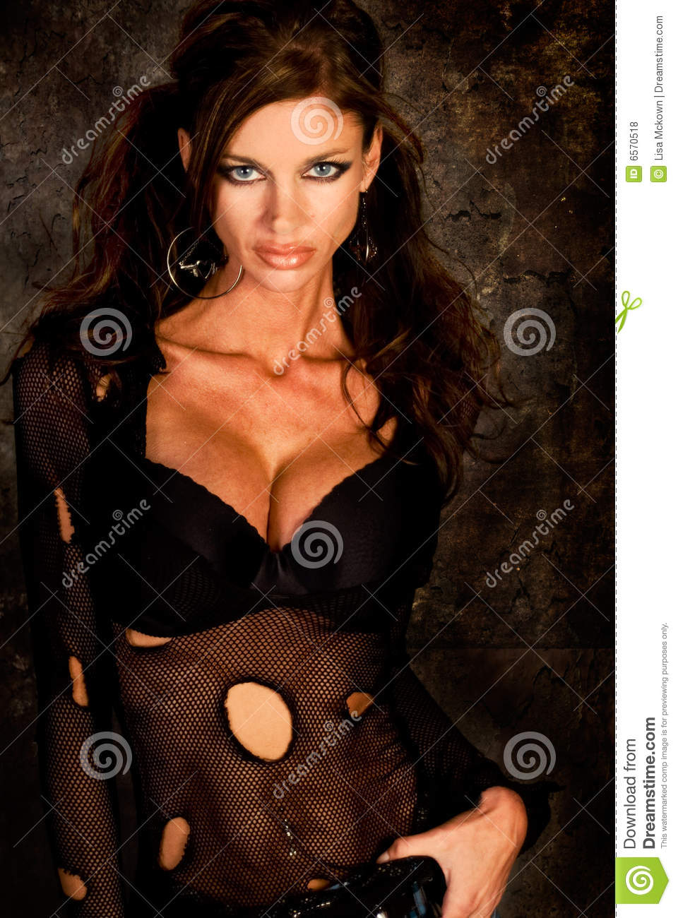 Dark Haired Goth Model Royalty Free Stock Photos Image