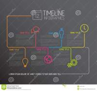 Dark Infographic Timeline Report Template With Lines Stock ...