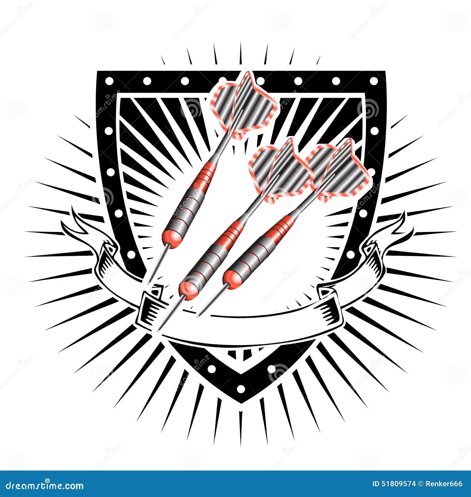 Darts shield stock vector. Illustration of focus
