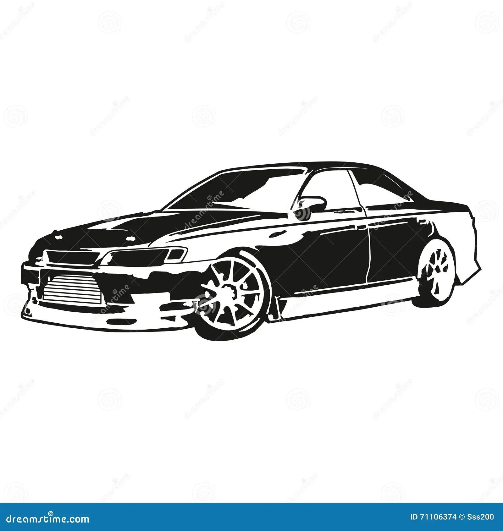 Das Auto Kennzeichen 2 Vektortransport Der Rennwagen
