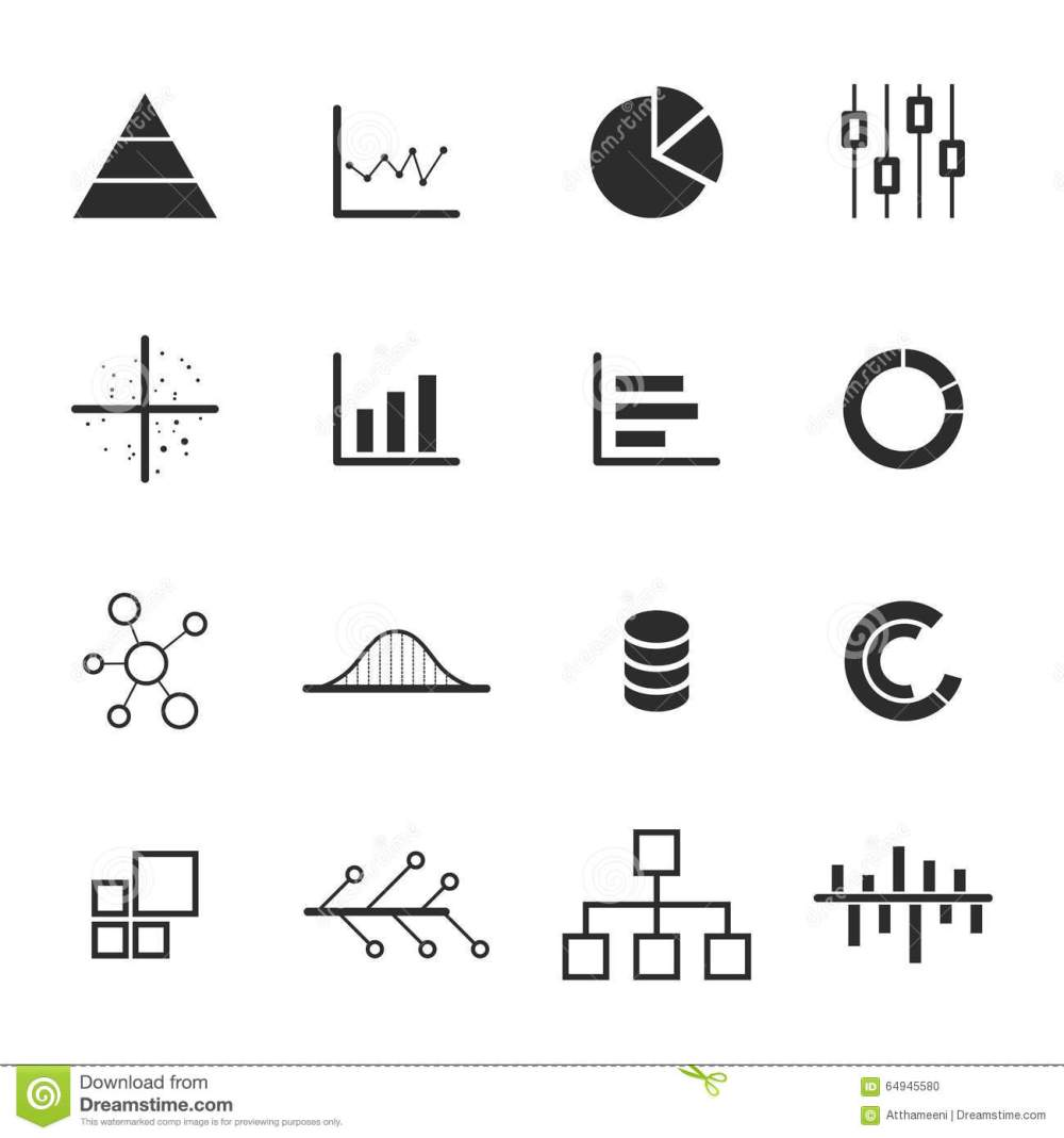 medium resolution of data chart diagram icon set