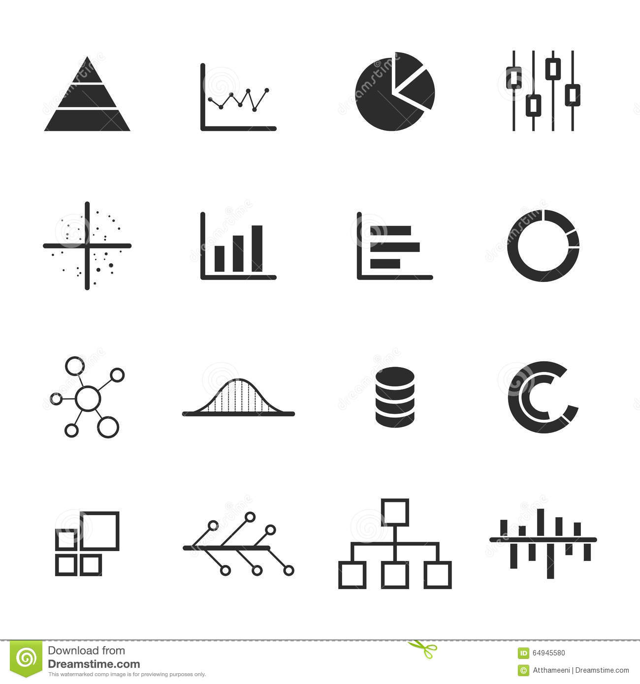 hight resolution of data chart diagram icon set