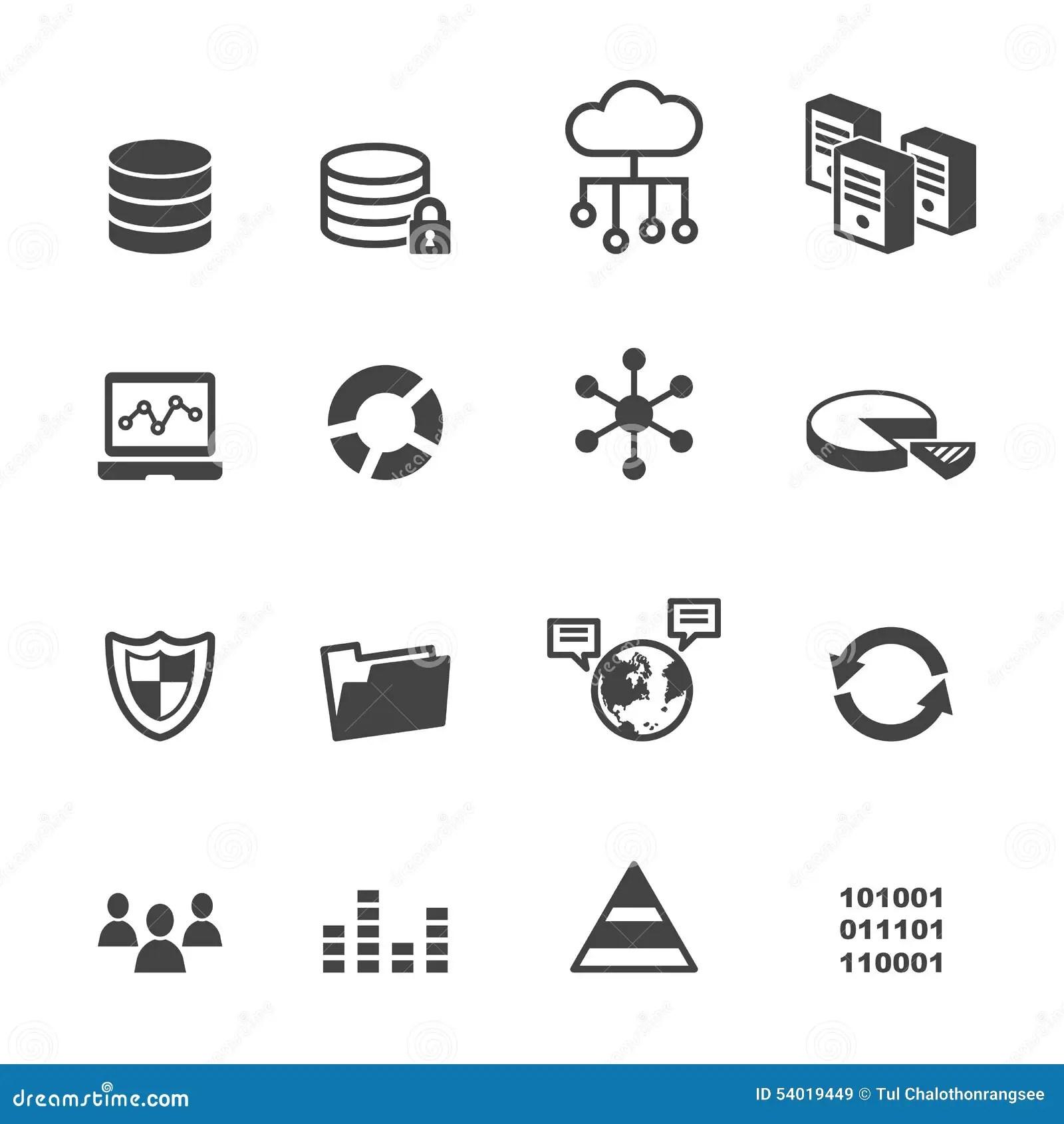 Data Icons Stock Vector