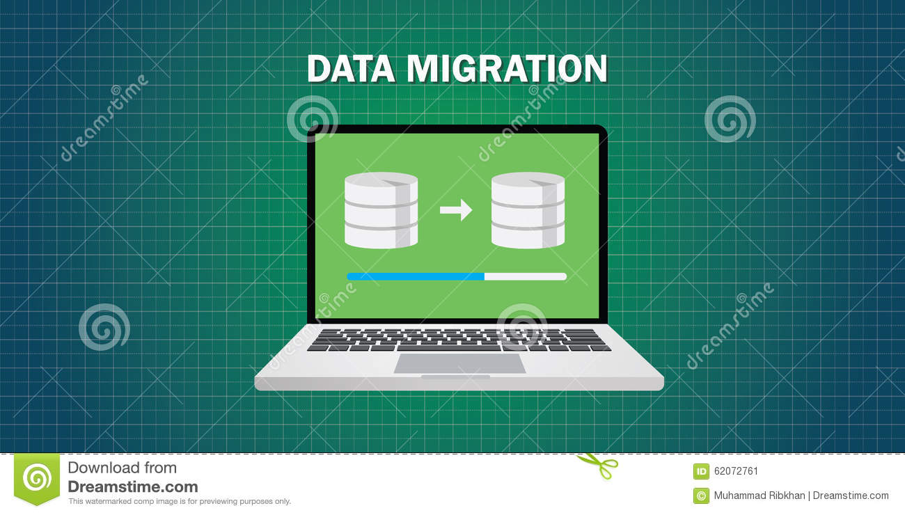 Data Migration In Computer Stock Vector  Image 62072761