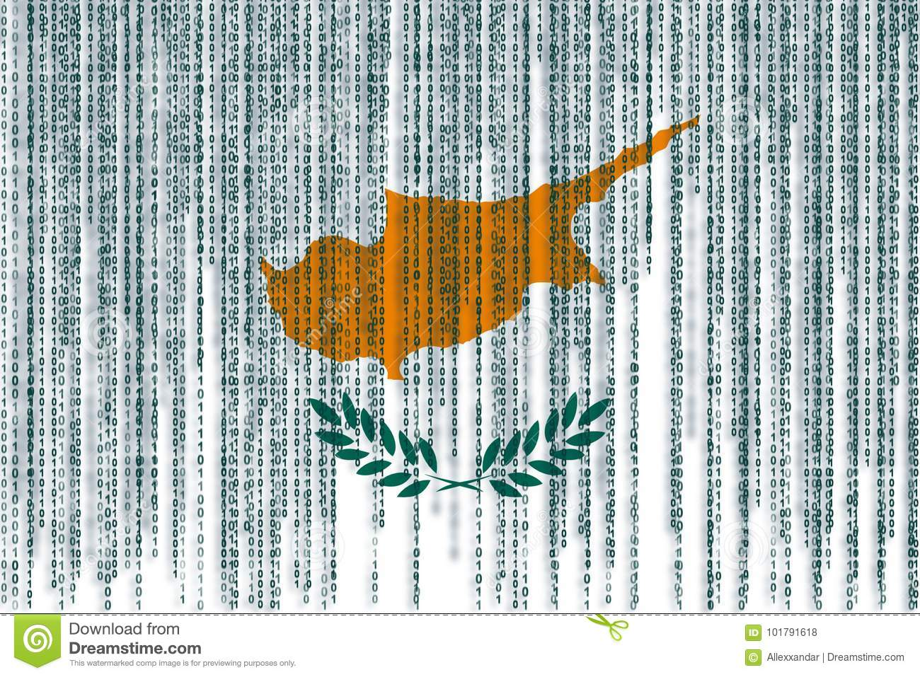 Data Protection Cyprus Flag. Cyprus Flag With Binary Code. Stock Photo - Image of culture. emblem: 101791618