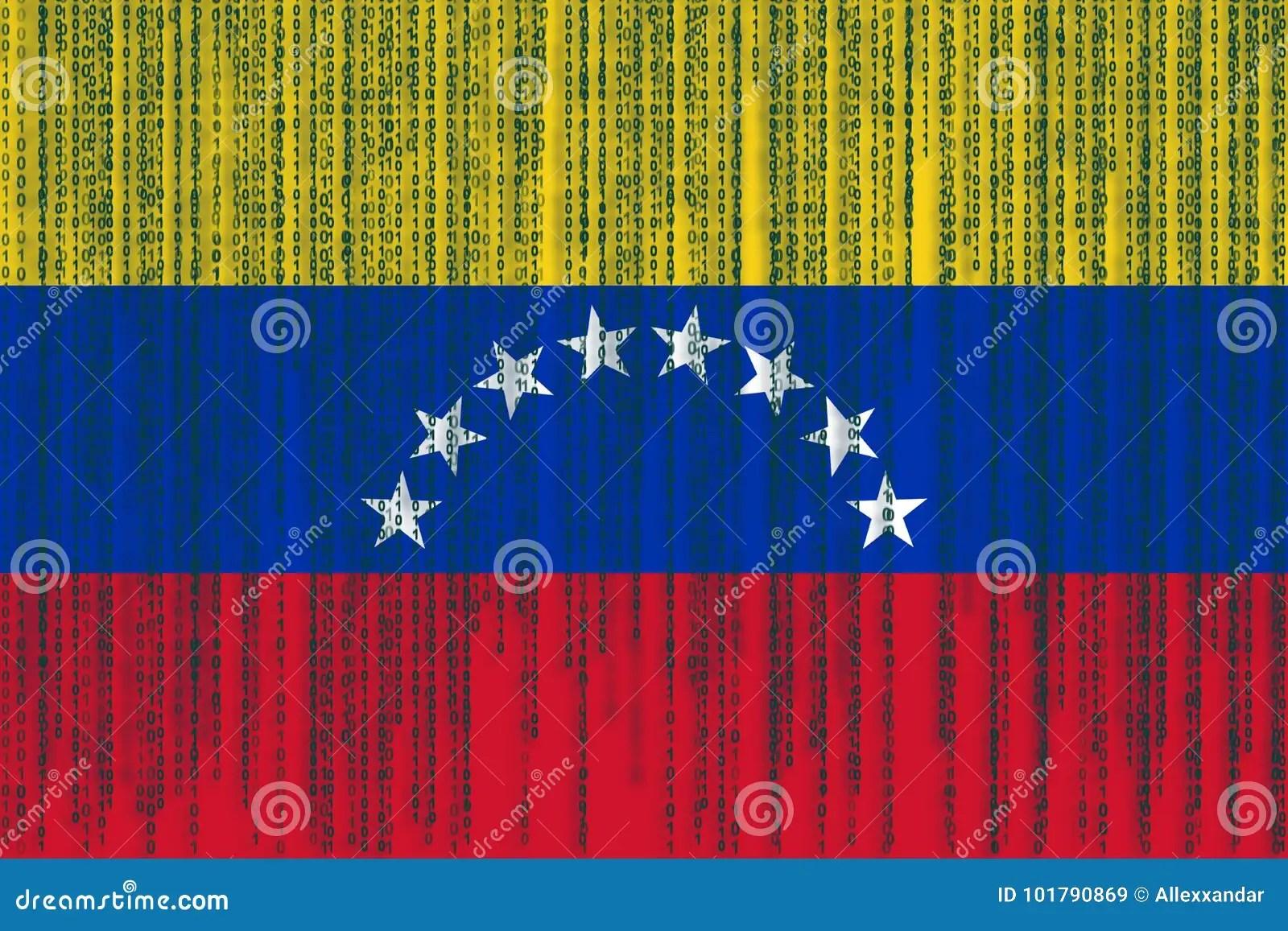 Data Protection Venezuela Flag. Venezuela Flag With Binary Code. Stock Illustration - Illustration of celebration. code: 101790869