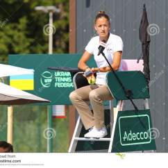 Tennis Umpire Chair Hire Antique Eames Davis Cup Game Ukraine V Austria Editorial
