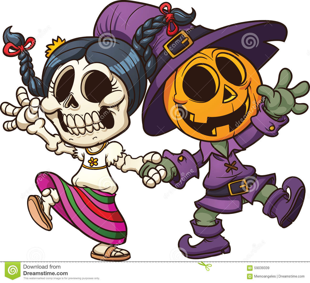 hight resolution of day of the dead and halloween characters