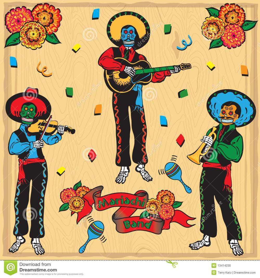 medium resolution of day of the dead mariachi band