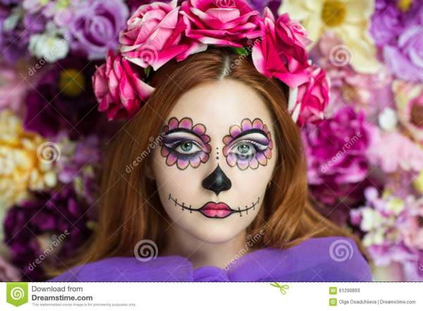 Day Of Dead Stock Color Adult Mexican - 61290893