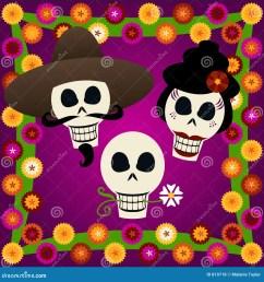 day of the dead skulls [ 1300 x 1390 Pixel ]
