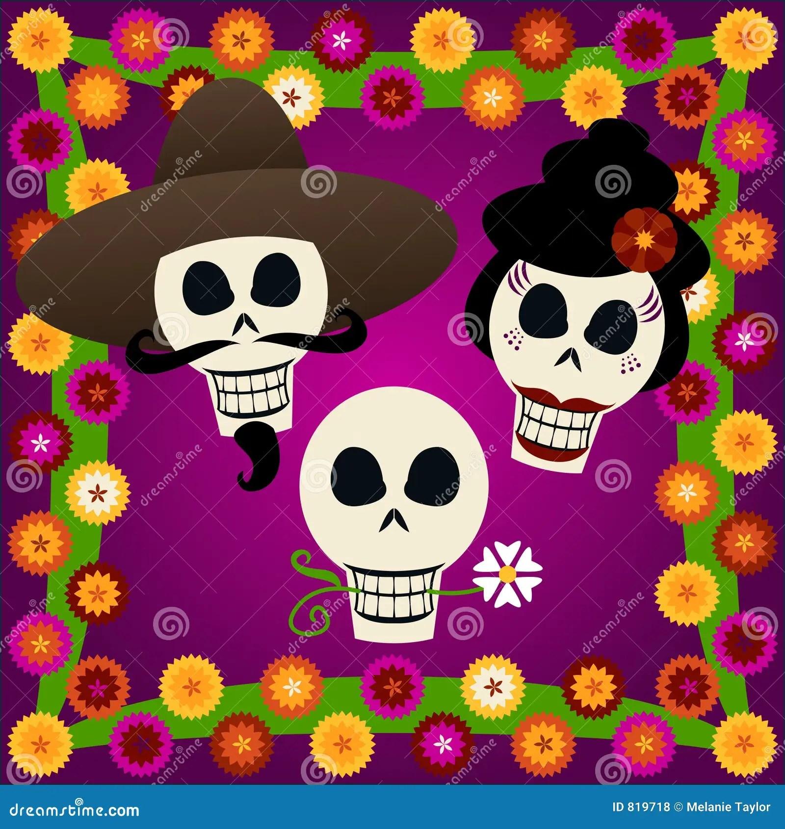 hight resolution of day of the dead skulls