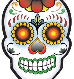 day of the dead sugar skull [ 1097 x 1300 Pixel ]