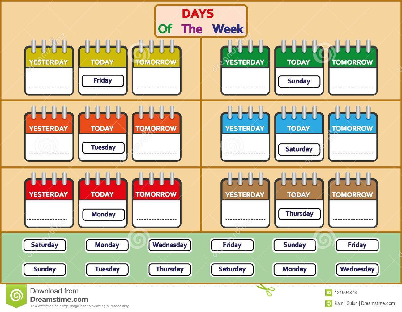 Days Of The Week Worksheets Trace And Write The Days Of