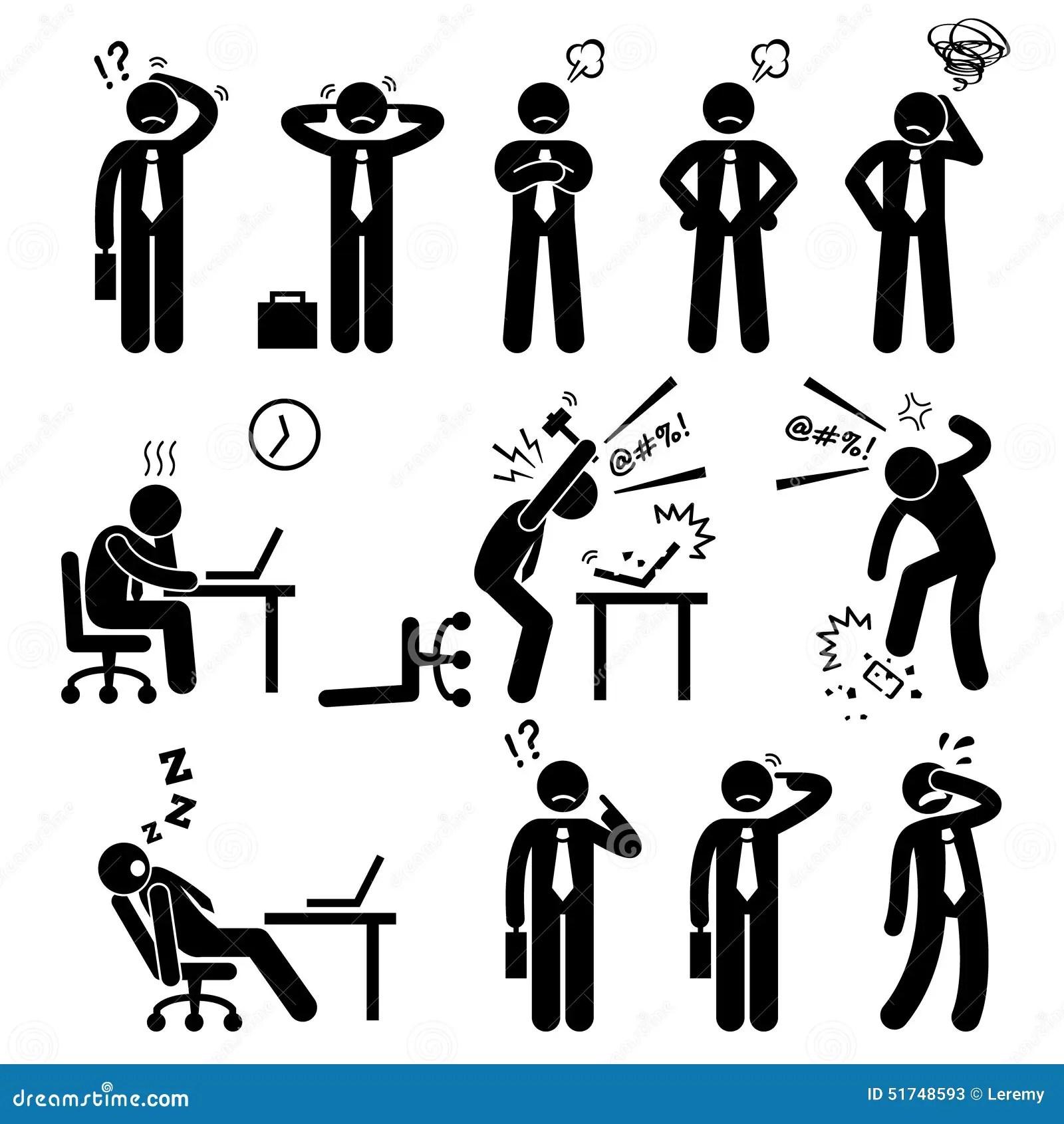 De Drukwerkplaats Cliparts Van Zakenmanbusiness Man Stress