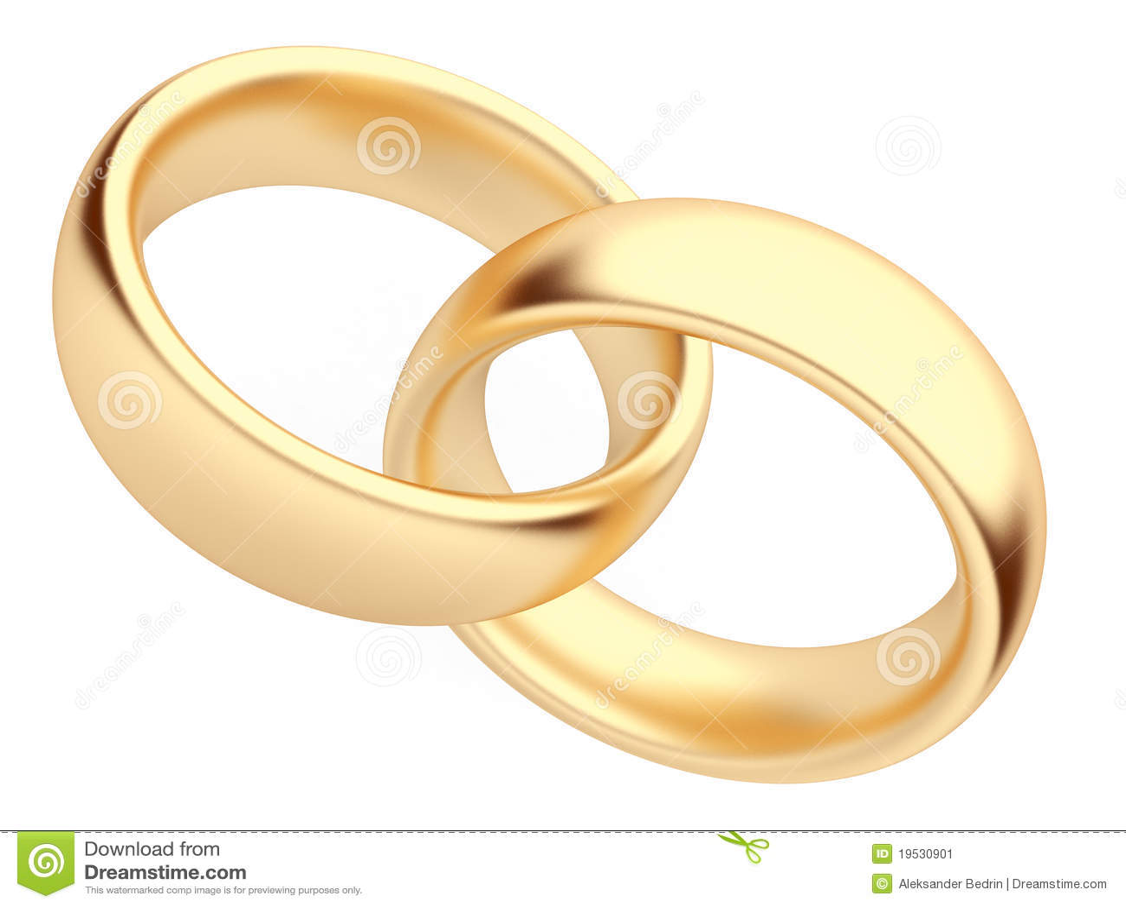 De gouden 3d ring van het huwelijk Gesoleerdn Symbool