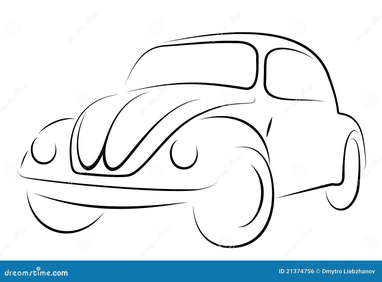 De Kever Van Volkswagen Van De Auto Royalty Vrije Stock