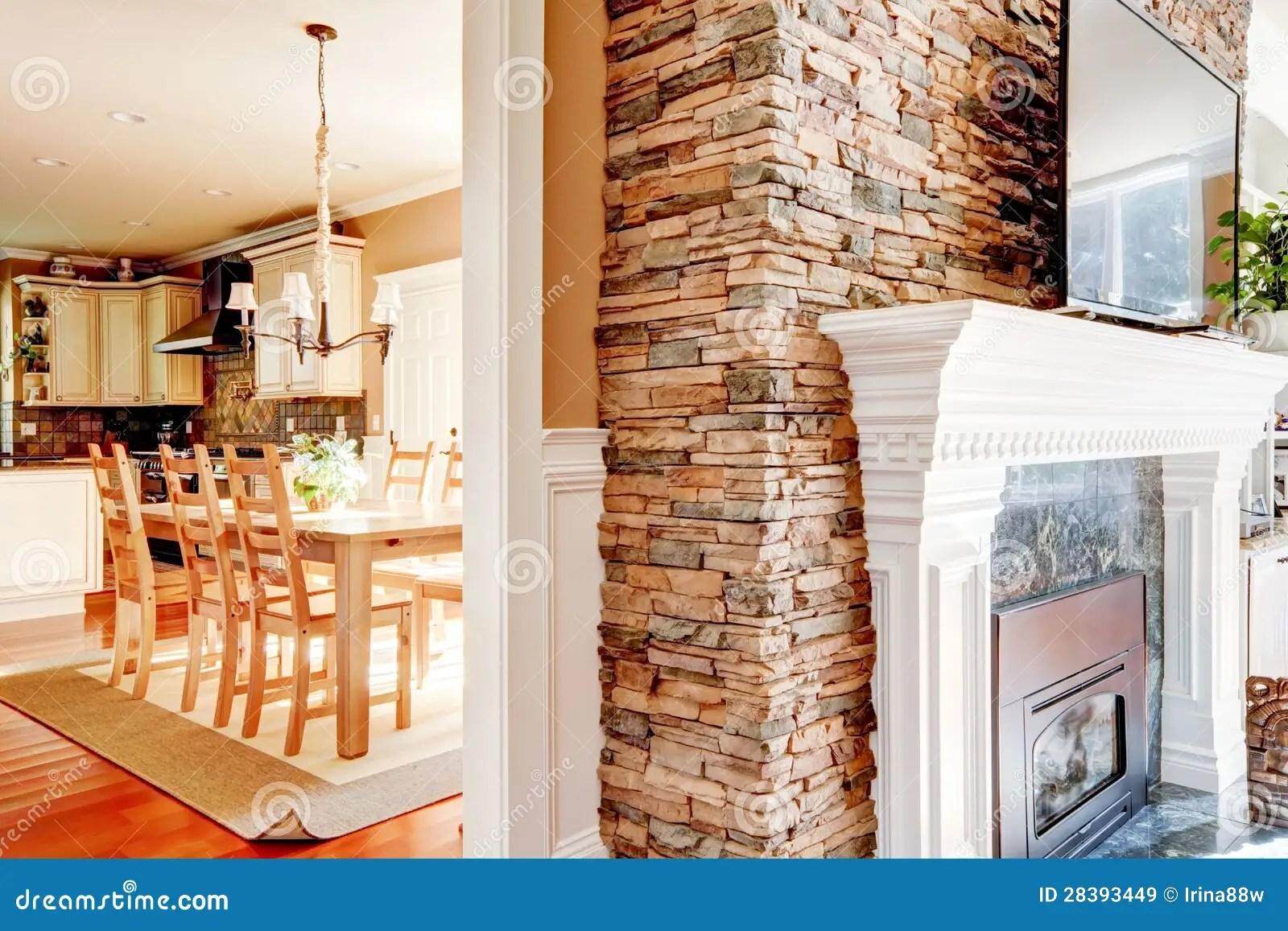 Eetkamer Keuken Open : Open haard in eetkamer keuken dressoir fresh gashaard open haard