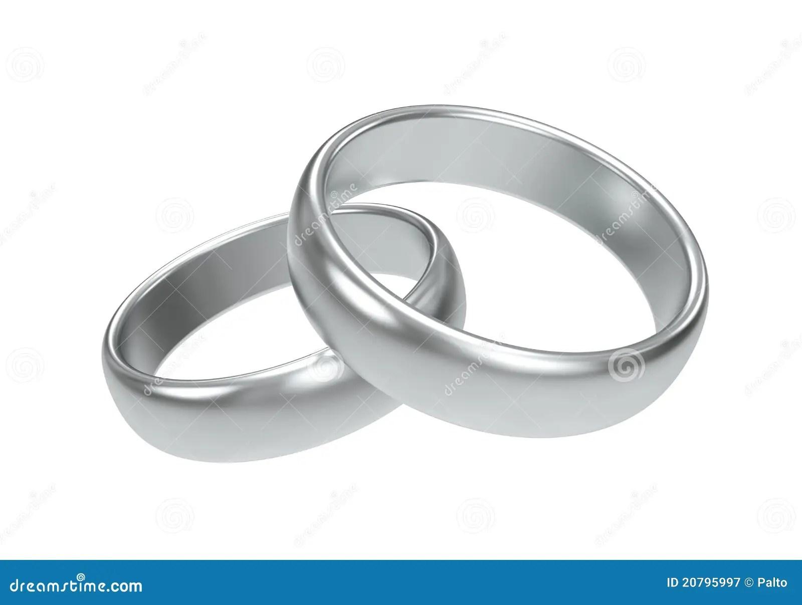 De Ringen Van De Zilveren Bruiloft Stock Illustratie