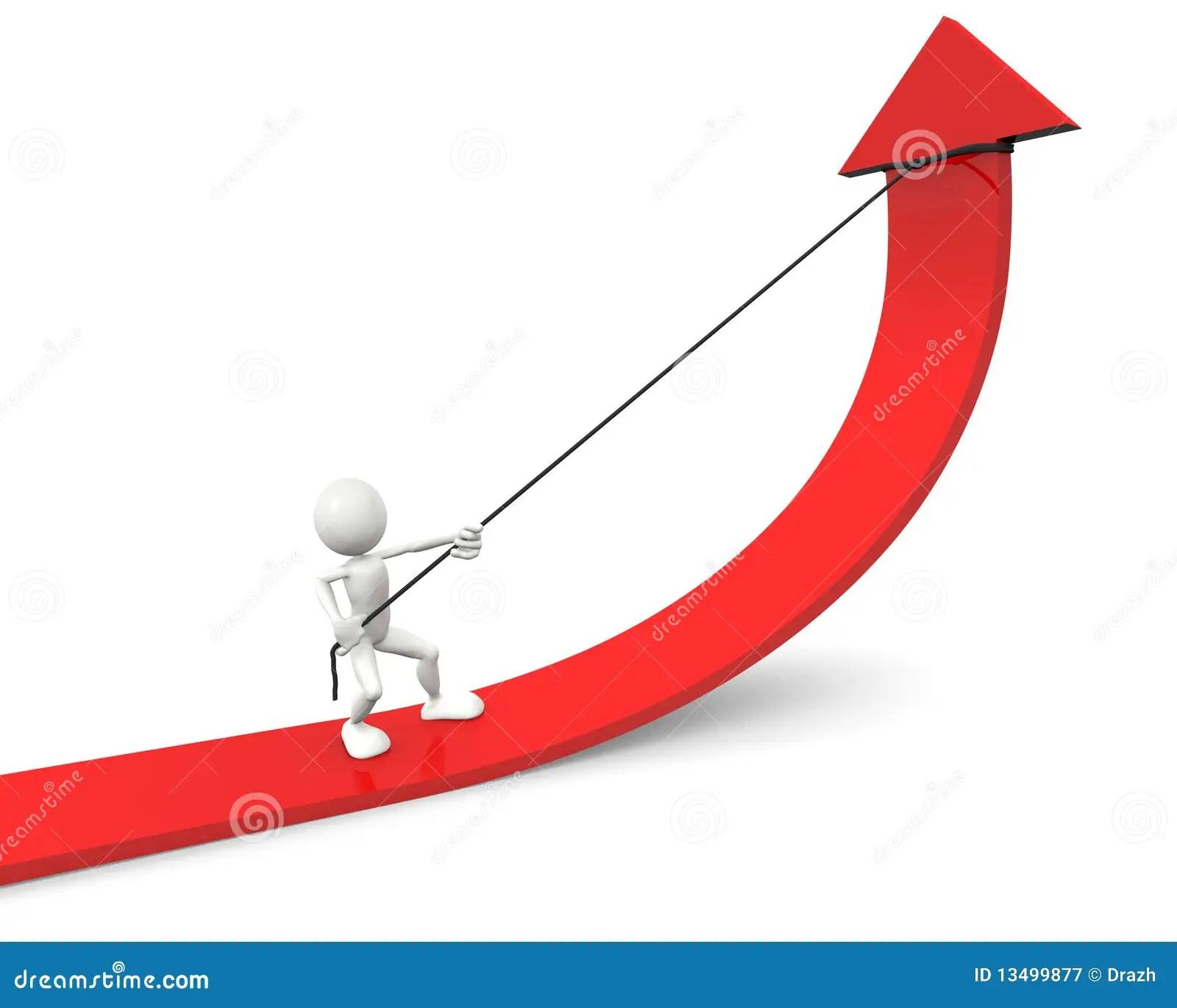 De Rode Verbetering Van De Pijl Van De Grafiek Stock