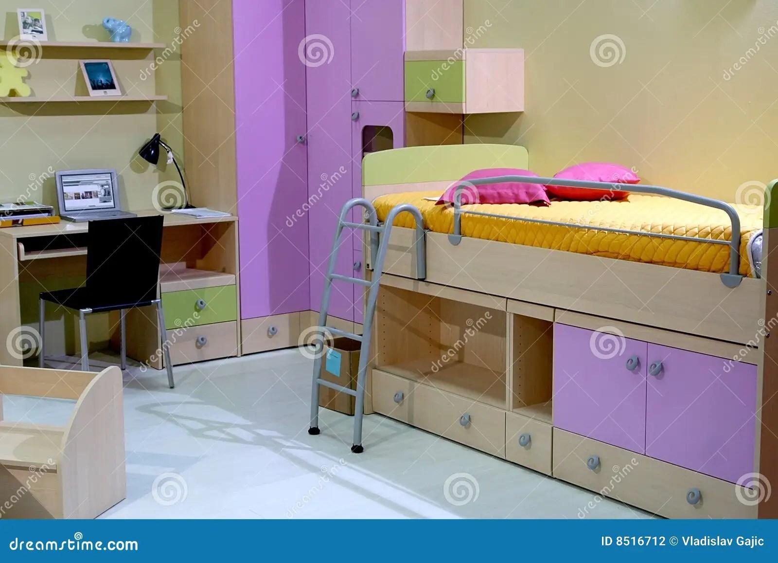 De slaapkamer van kinderen stock foto Afbeelding