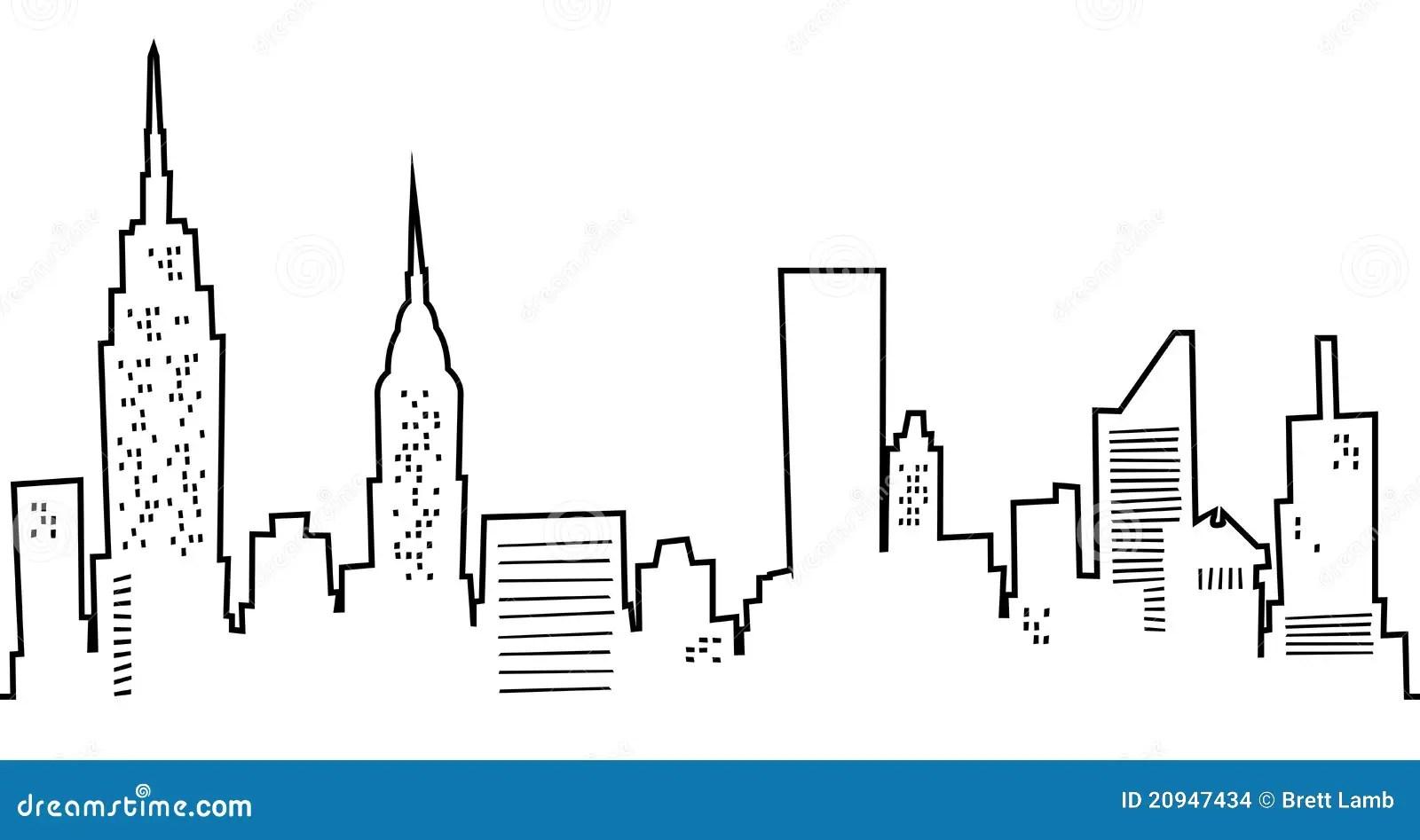 De Stad Van New York Van Het Beeldverhaal Stock