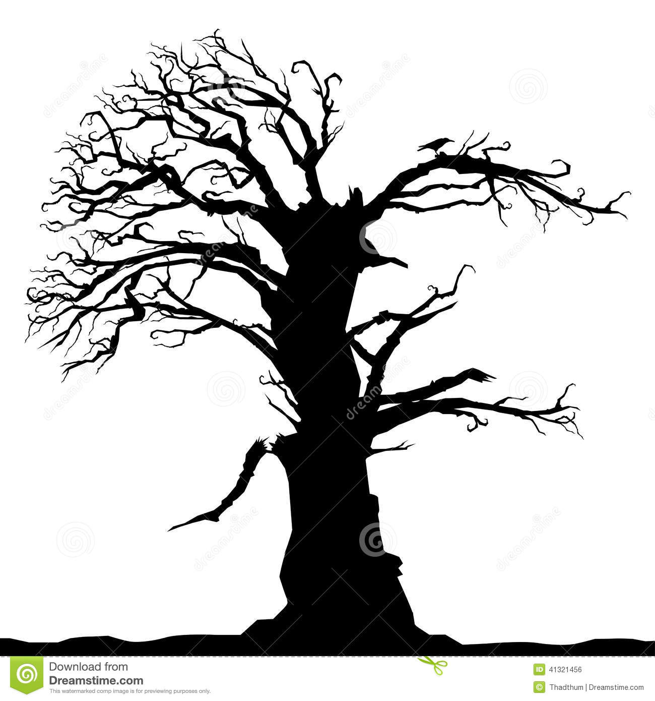 Dead Abstract Tree Stock Vector Image Of Branch