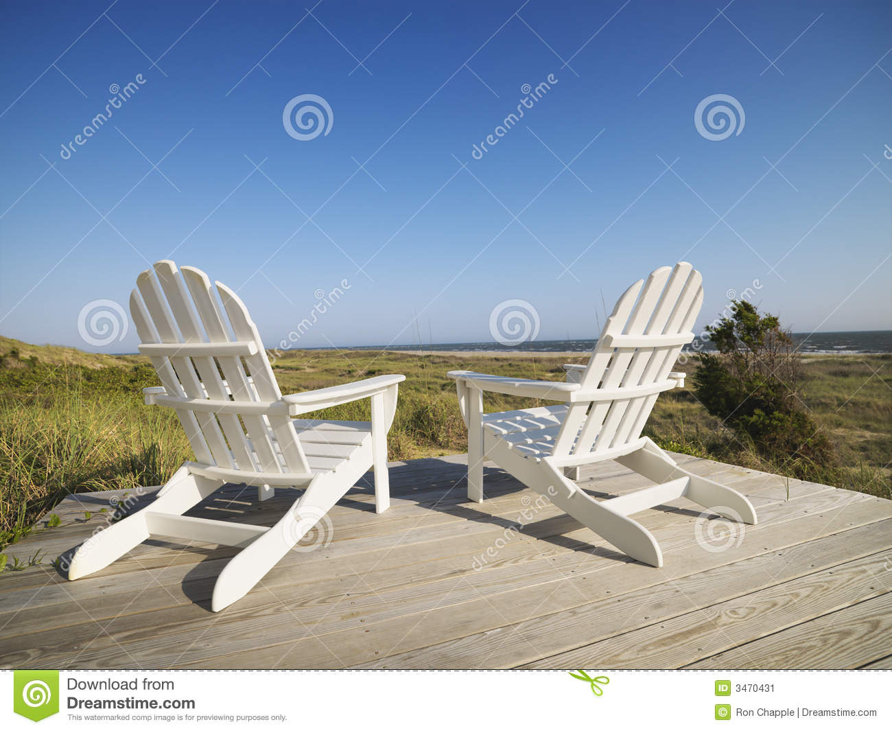 Deck Chairs At Beach Stock Image  Image 3470431