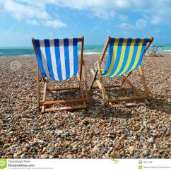 Beach Chairs Uk Patio Furniture Table And Deck On Brighton Royalty Free Stock