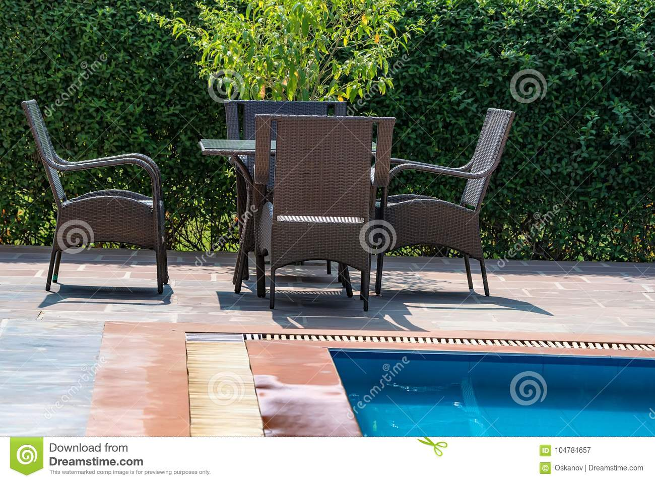 Pool Deck Chairs Deck Chairs Near The Swimming Pool Stock Image Image Of Hotel