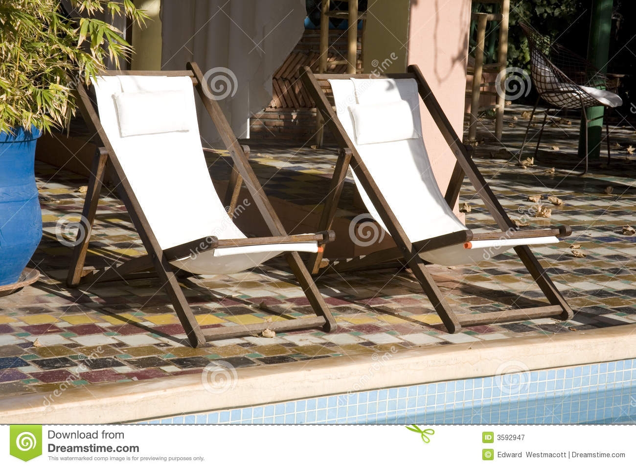 Pool Deck Chairs Deck Chairs By Swimming Pool Royalty Free Stock