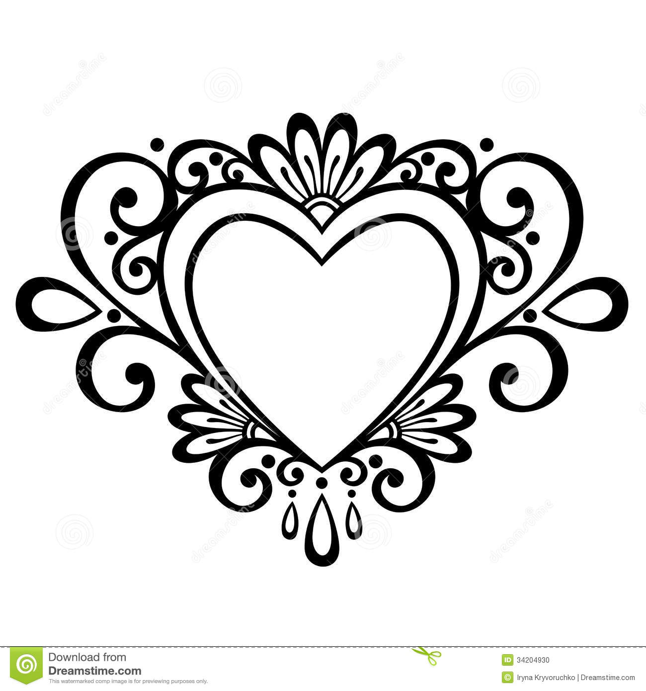 Deco Heart Stock Vector Illustration Of Marriage Card