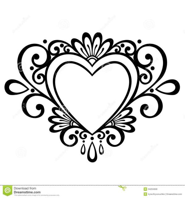 Deco Heart stock vector Illustration of holiday