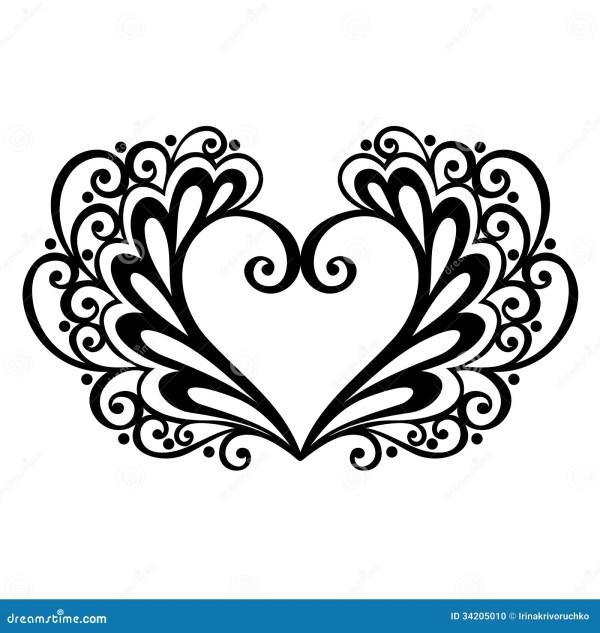 Deco Heart Stock Photo Image 34205010