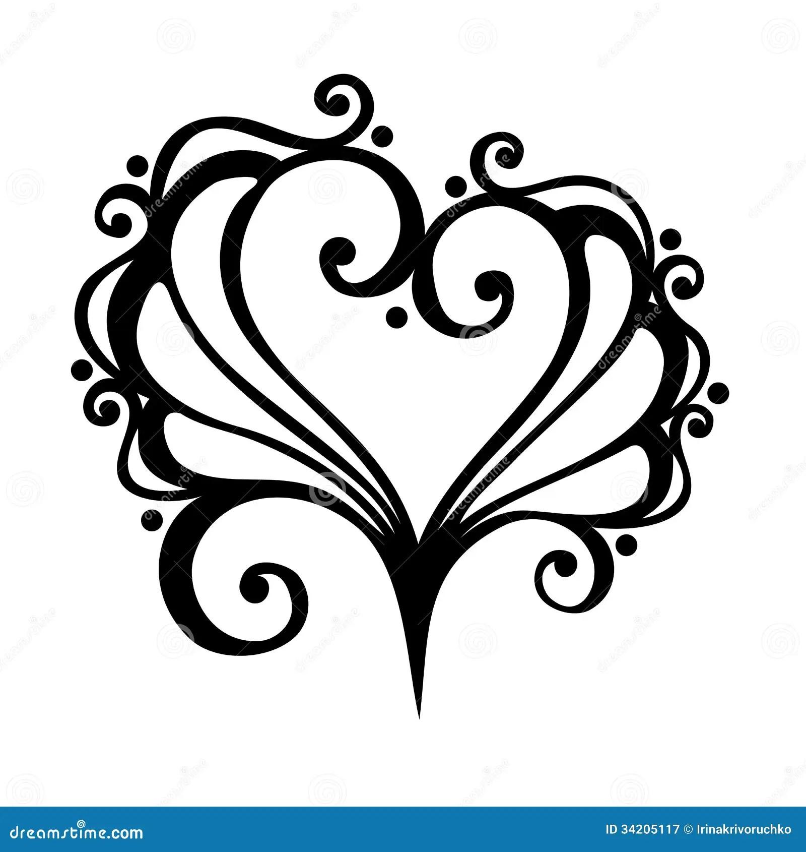Deco Heart Stock Vector Illustration Of Flower Design