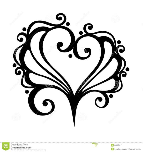 Deco Heart Royalty Free Stock Photography Image 34205117